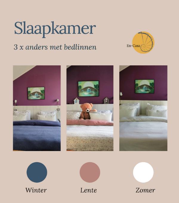 Slaapkamer 3x anders met bedlinnen
